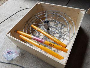 Frisbeegolf-korien säilytyslaatikot